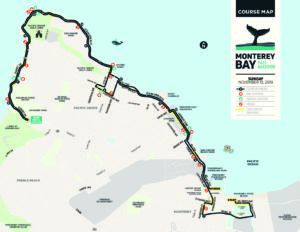 2019 Monterey Bay Half Marathon Course Map Monterey Bay Half Marathon The principal archaeological sites that have been mapped are located between the monterey bay aquarium and the naval postgraduate school, within about 2000 feet (610 m) of the coastline. 2019 monterey bay half marathon course